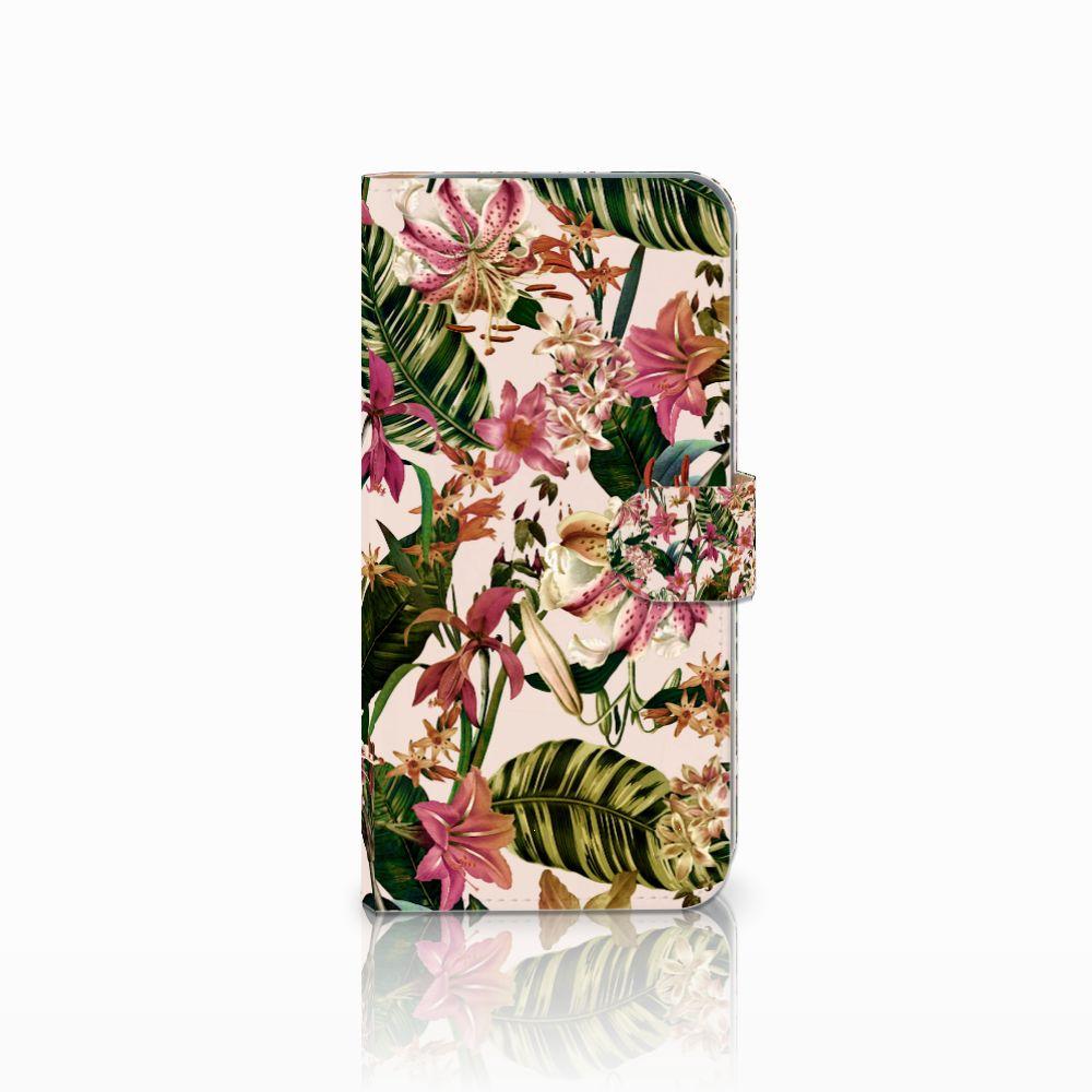 HTC Desire 10 Pro Uniek Boekhoesje Flowers