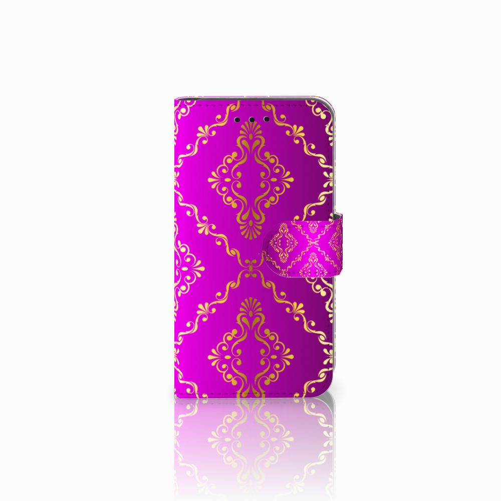 Microsoft Lumia 550 Uniek Boekhoesje Barok Roze