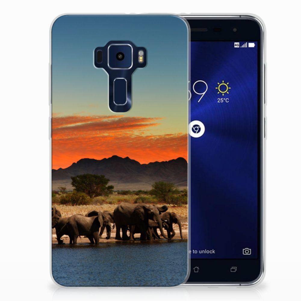 ASUS Zenfone 3 TPU Hoesje Design Olifanten