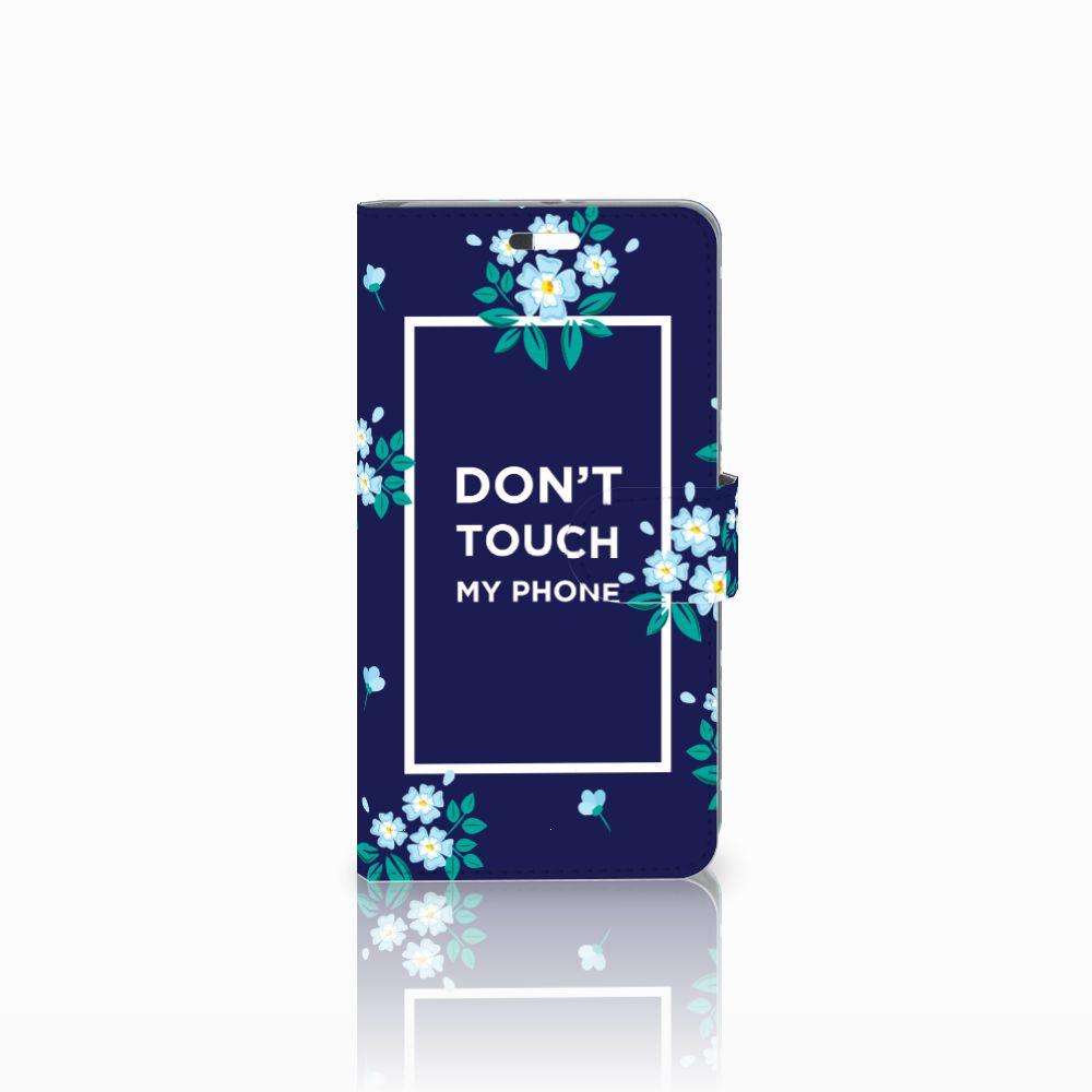 Huawei P9 Plus Boekhoesje Flowers Blue DTMP