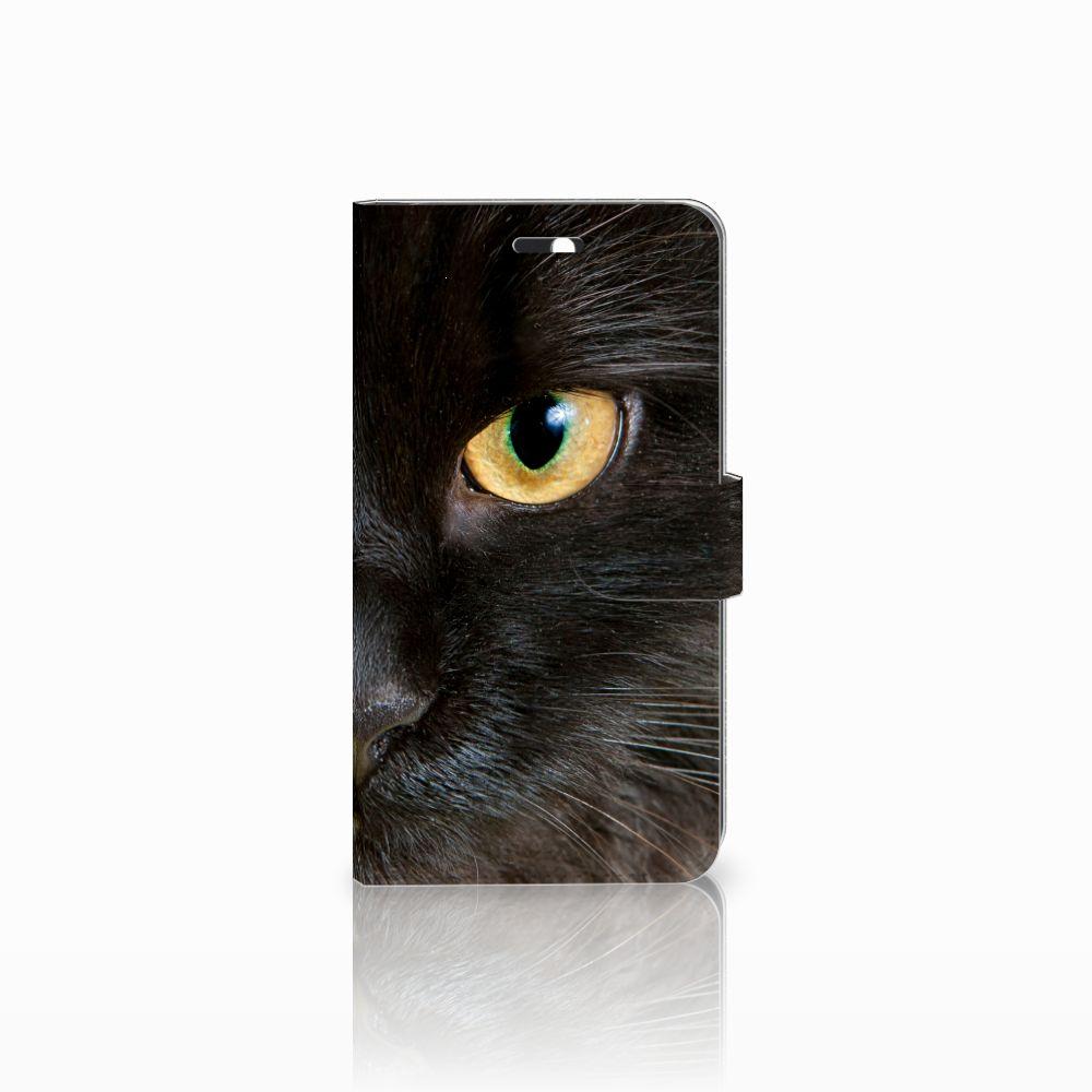 Huawei Y6 II | Honor 5A Uniek Boekhoesje Zwarte Kat