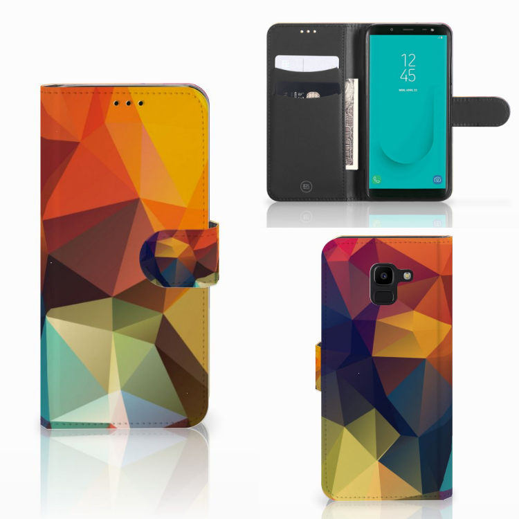 Samsung Galaxy J6 2018 Bookcase Polygon Color