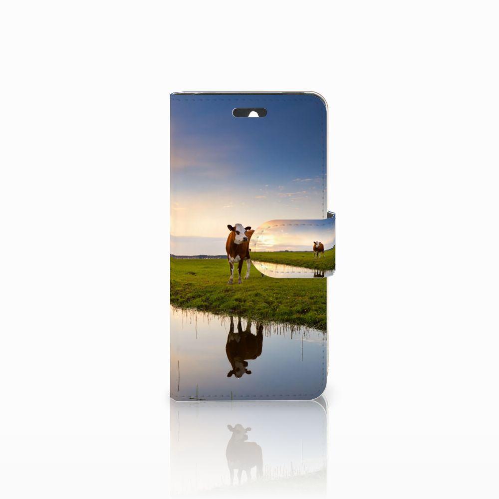 Huawei Ascend Y550 Telefoonhoesje met Pasjes Koe