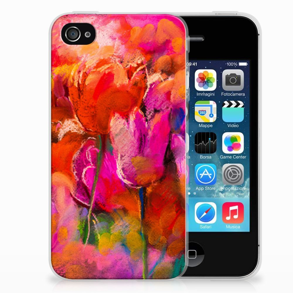Apple iPhone 4 | 4s TPU Hoesje Design Tulips