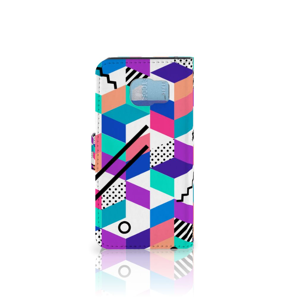 Samsung Galaxy S6 | S6 Duos Bookcase Blokken Kleurrijk