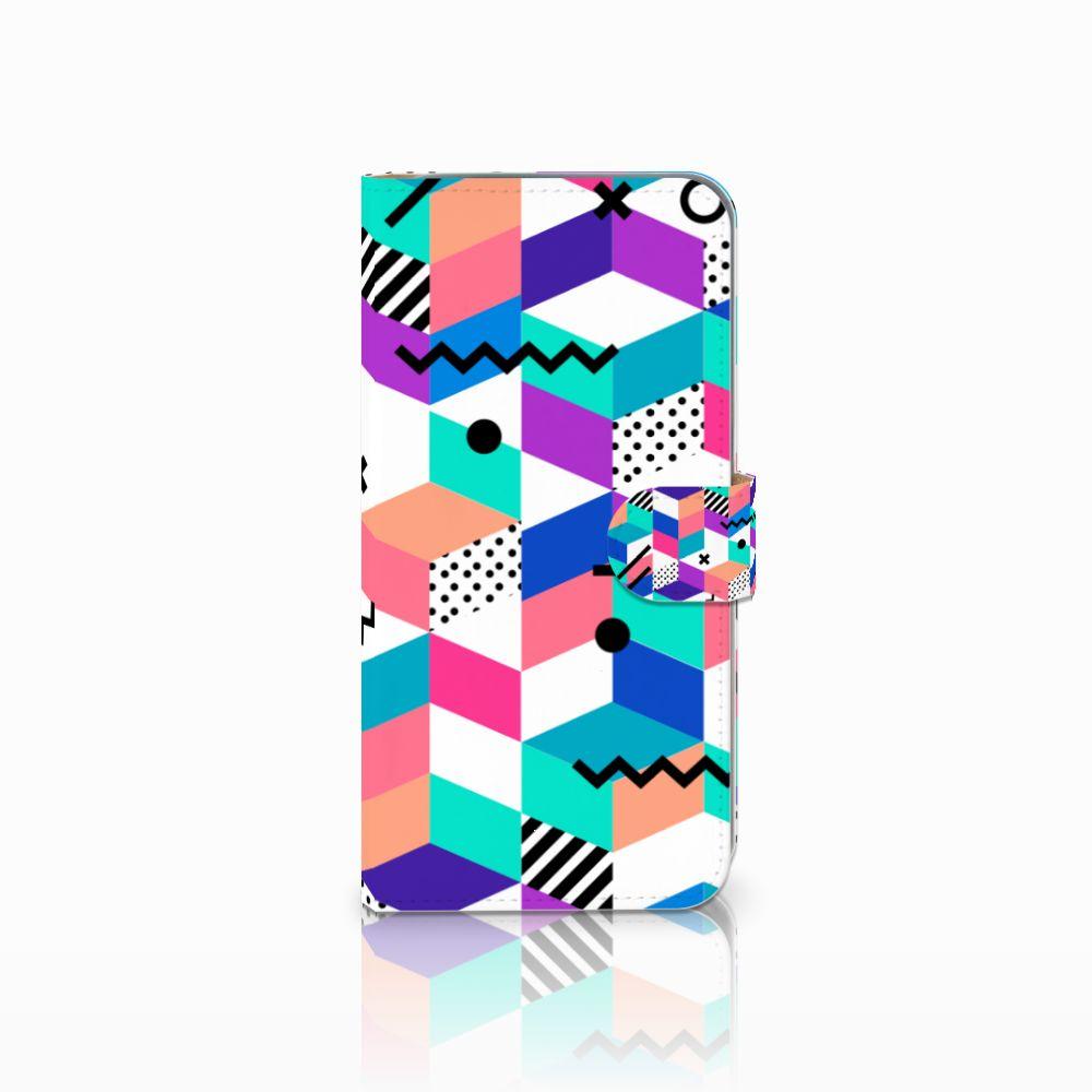 HTC Desire 10 Pro Bookcase Blokken Kleurrijk