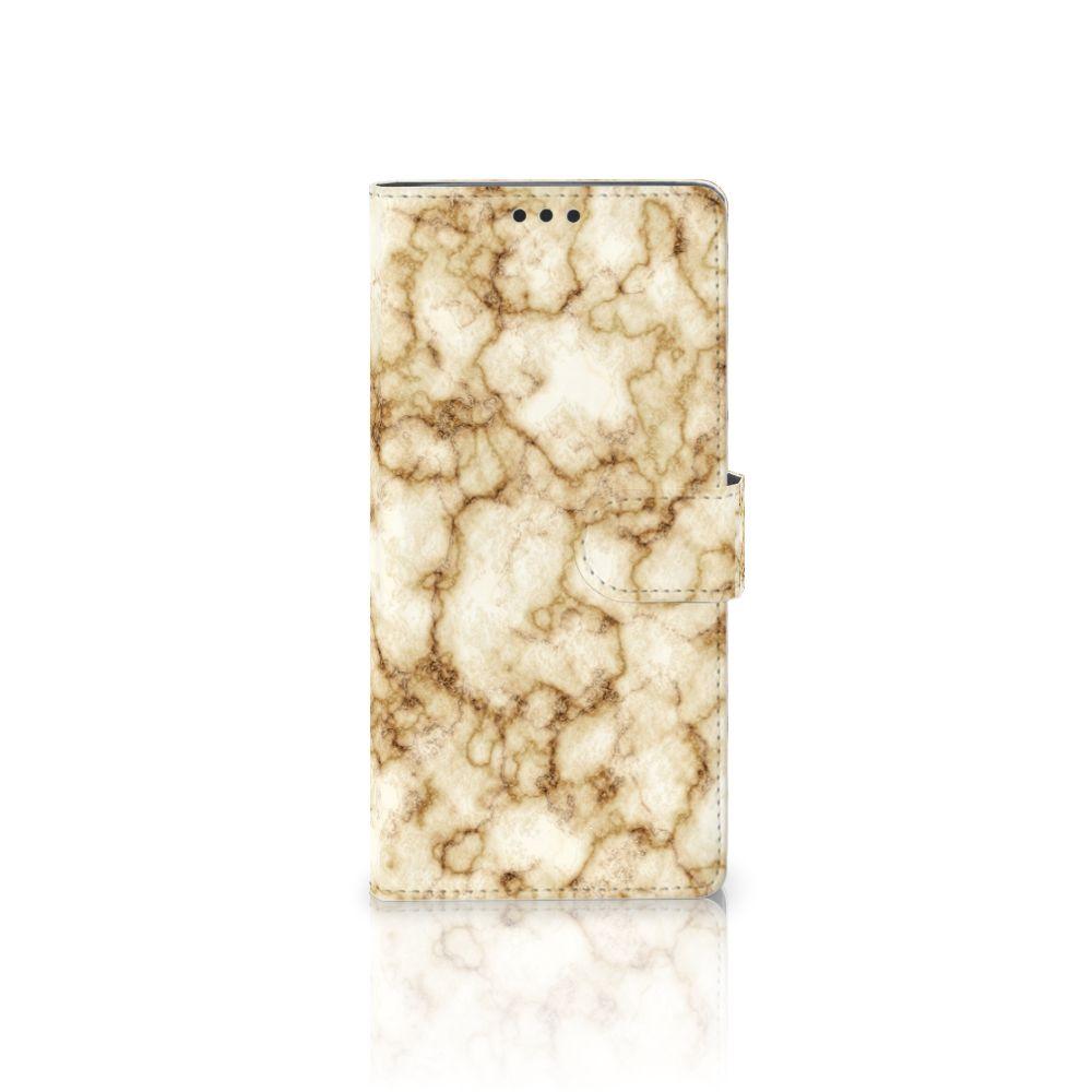Sony Xperia XA Ultra Uniek Boekhoesje Marmer Goud