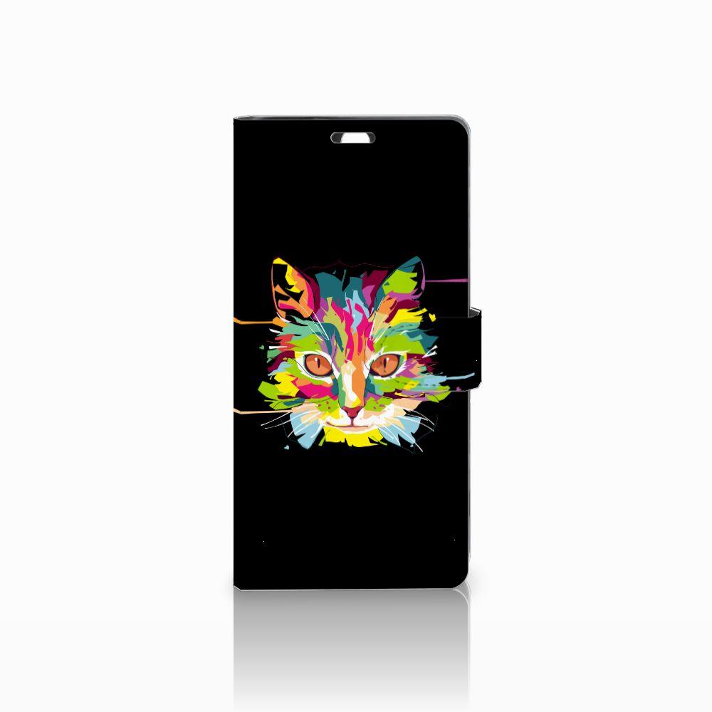 Sony Xperia C5 Ultra Uniek Boekhoesje Cat Color