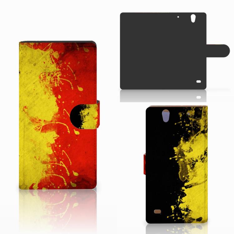Sony Xperia C4 Bookstyle Case Belgische Vlag