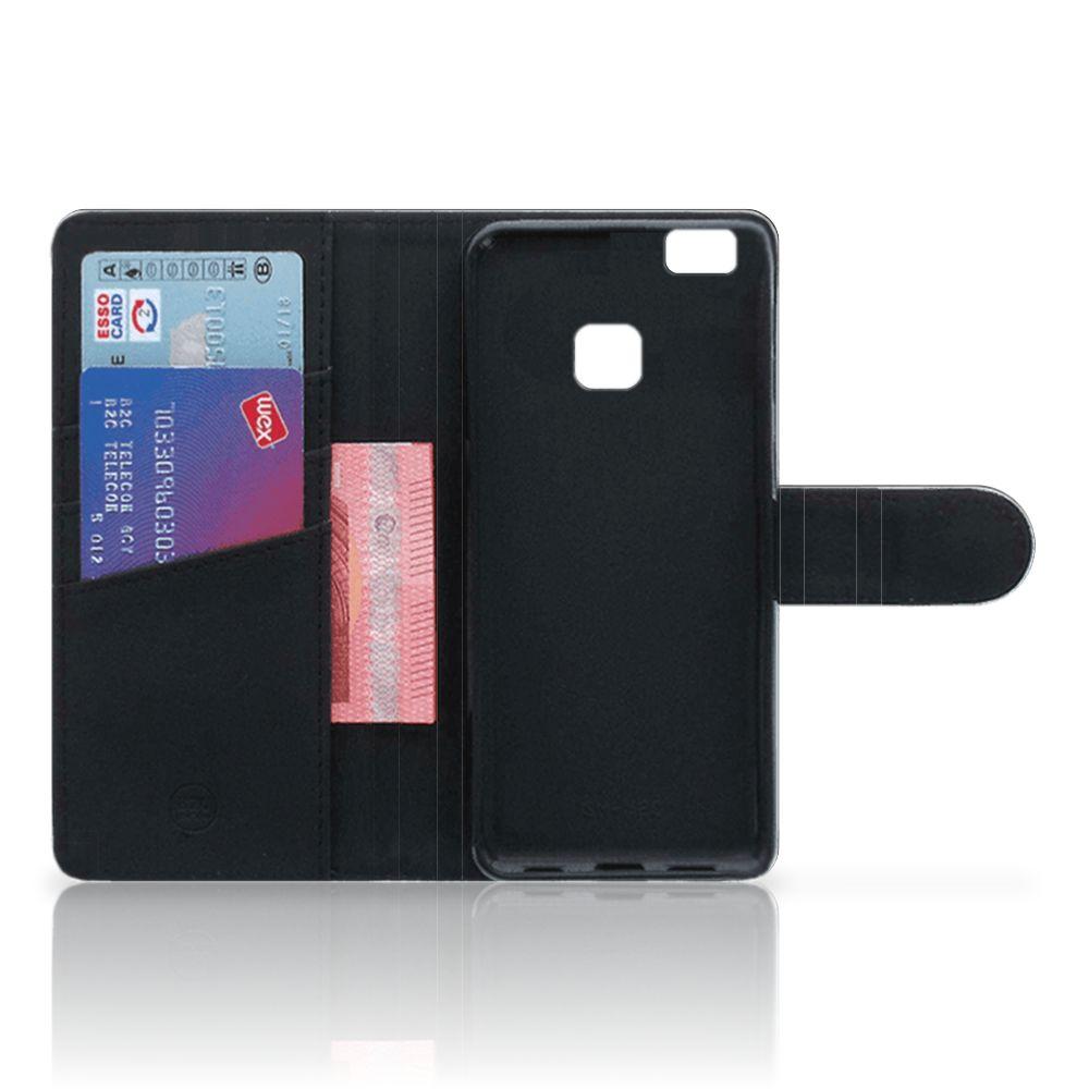 Huawei P9 Lite Telefoonhoesje met Pasjes Tijger