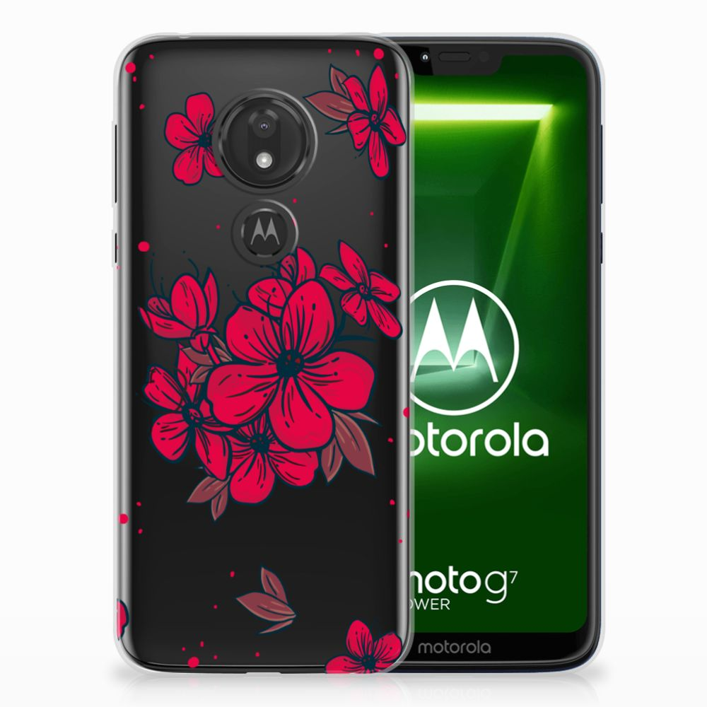 Motorola Moto G7 Power TPU Hoesje Design Blossom Red