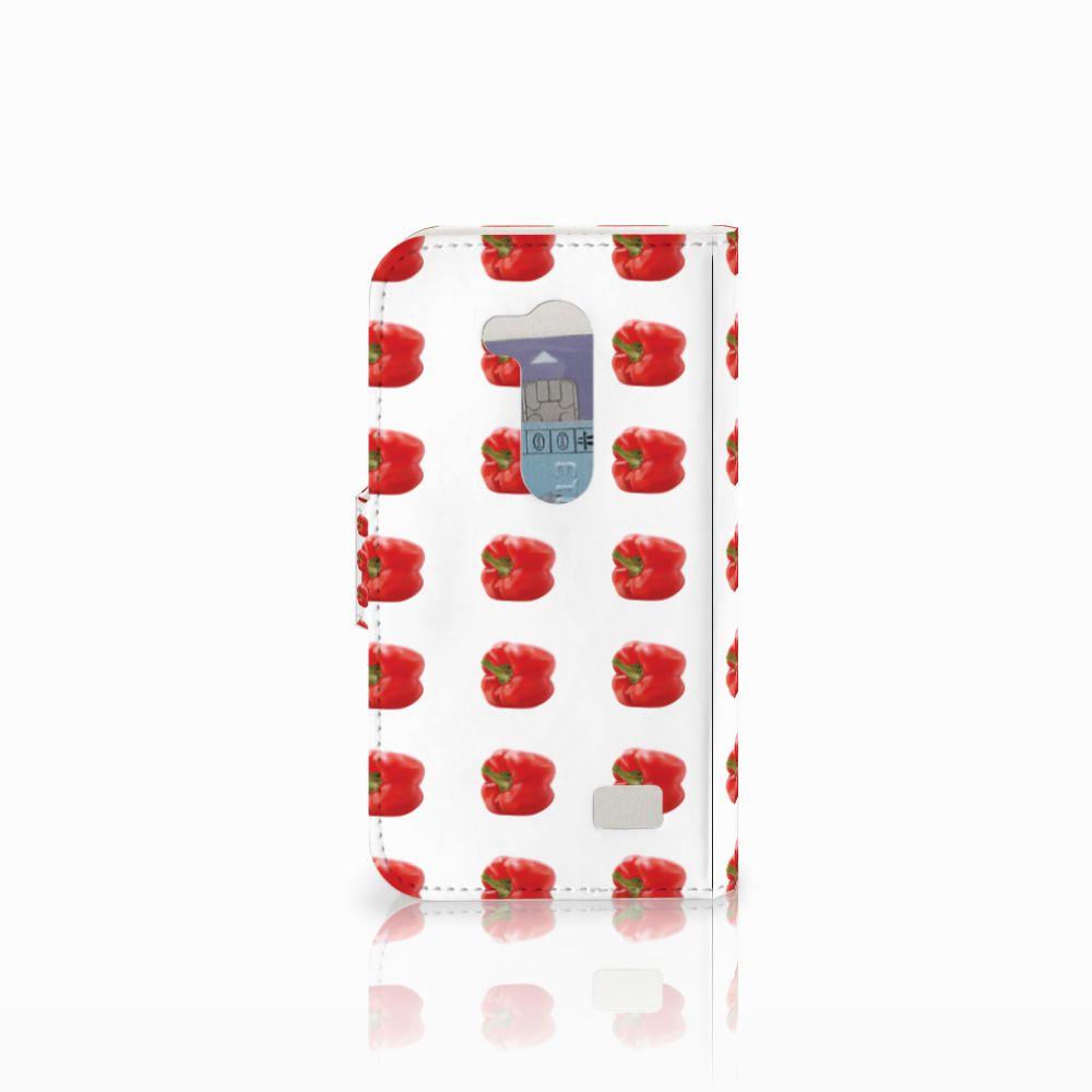LG L Fino Book Cover Paprika Red