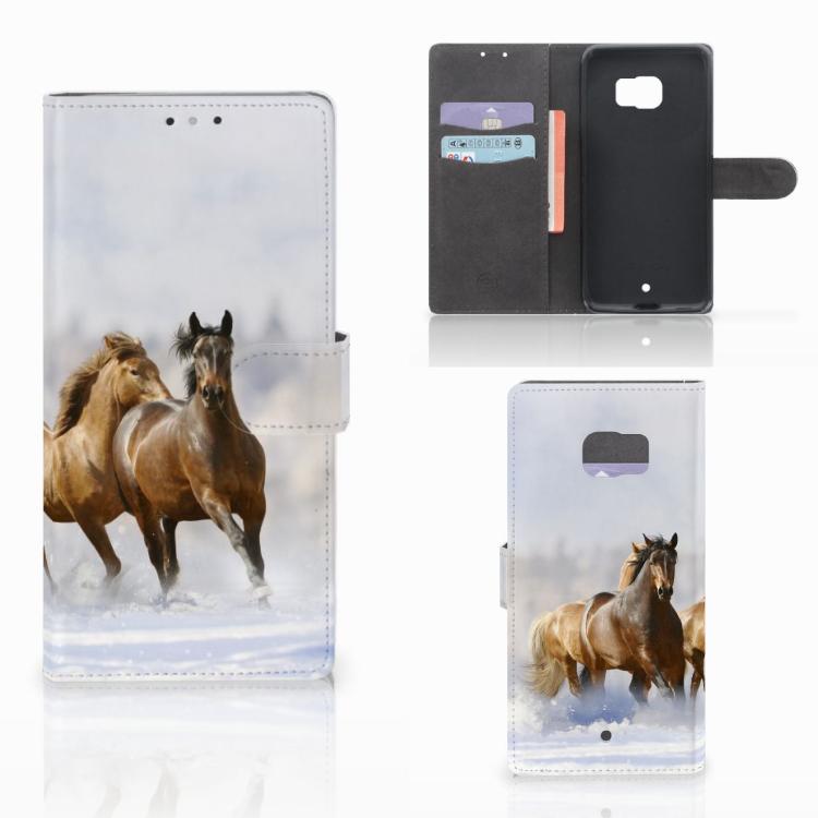 HTC U Ultra Telefoonhoesje met Pasjes Paarden