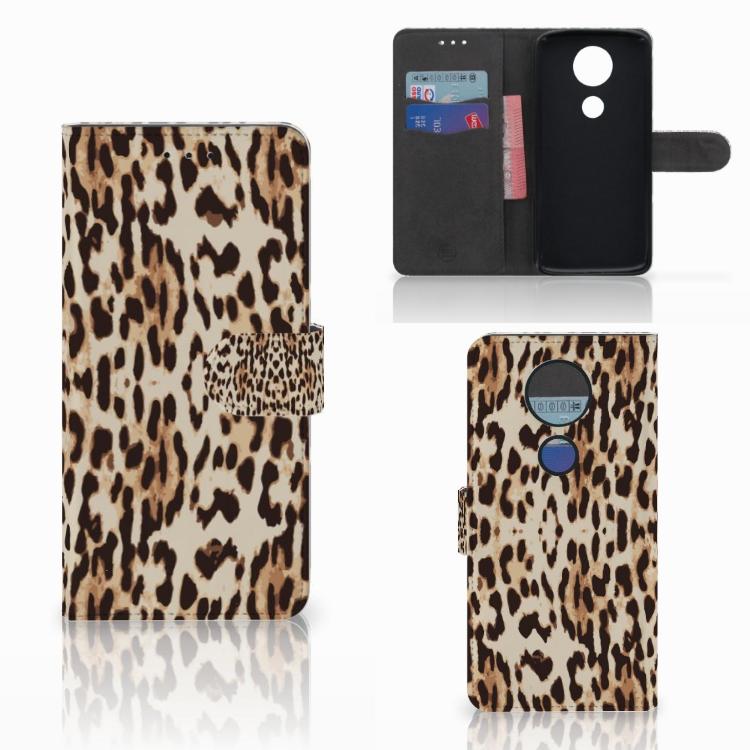 Motorola Moto E5 Plus Telefoonhoesje met Pasjes Leopard