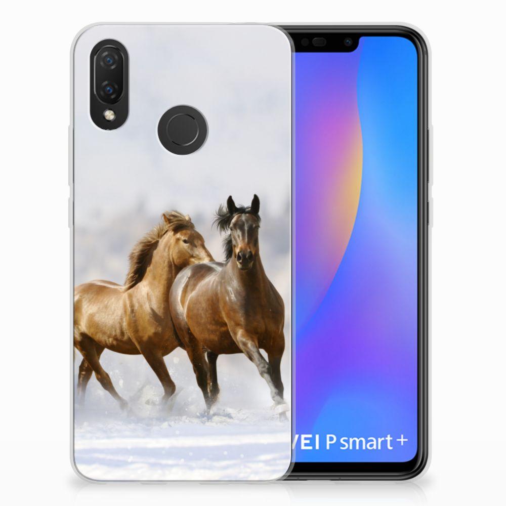 Huawei P Smart Plus Uniek TPU Hoesje Paarden