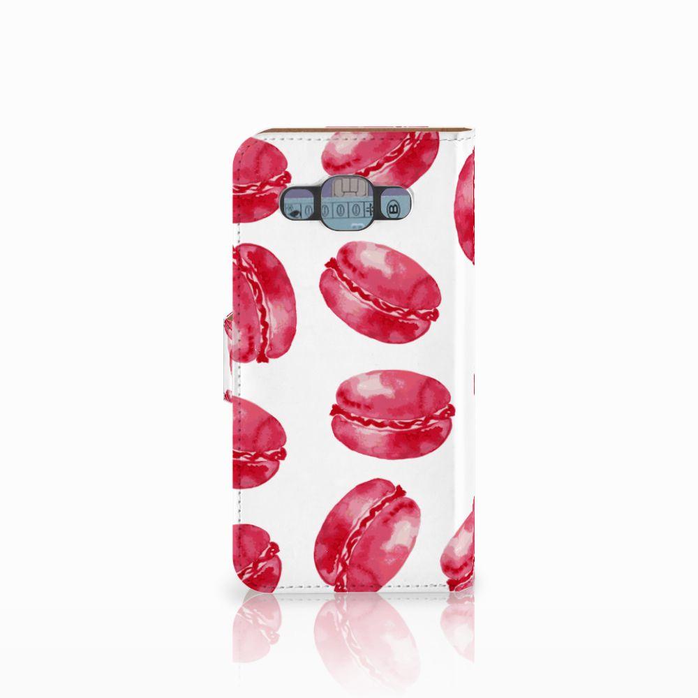 Samsung Galaxy E5 Book Cover Pink Macarons