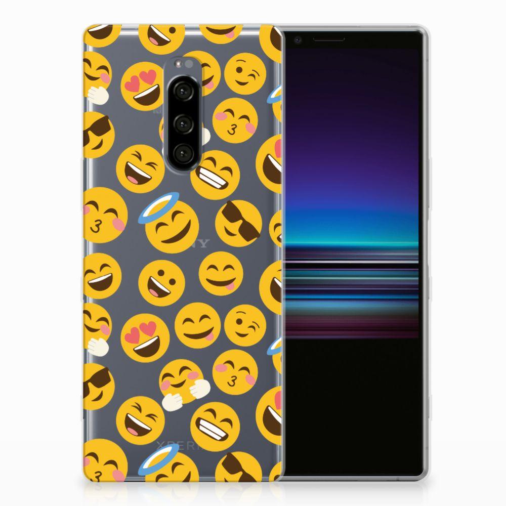 Sony Xperia 1 TPU bumper Emoji