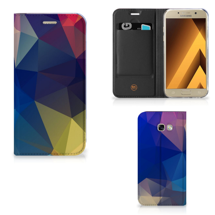 Samsung Galaxy A5 2017 Stand Case Polygon Dark