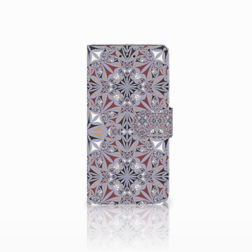 Huawei Y5 2018 Boekhoesje Design Flower Tiles