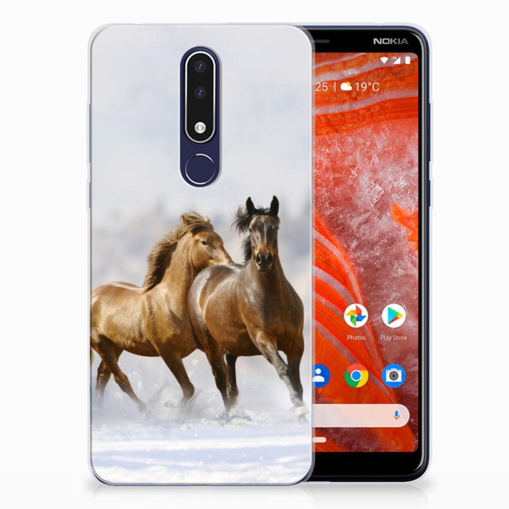 Nokia 3.1 Plus TPU Hoesje Paarden