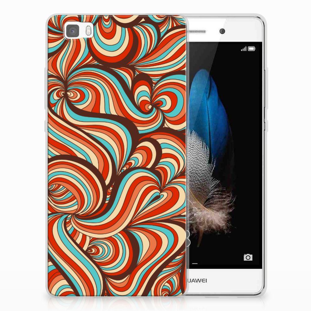 Huawei Ascend P8 Lite TPU Hoesje Design Retro