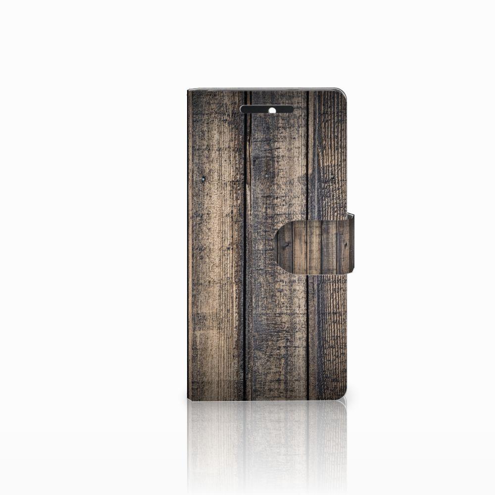 HTC Desire 628 Boekhoesje Design Steigerhout
