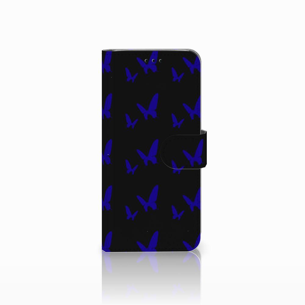 Samsung Galaxy J6 2018 Uniek Boekhoesje Vlinder Patroon