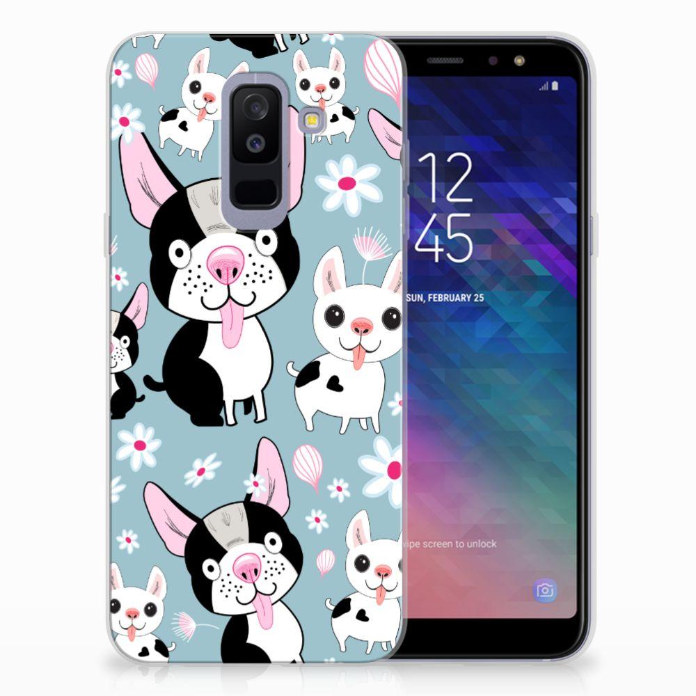 Samsung Galaxy A6 Plus (2018) TPU Hoesje Design Hondjes