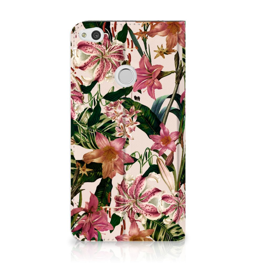 Huawei P8 Lite 2017 Uniek Standcase Hoesje Flowers
