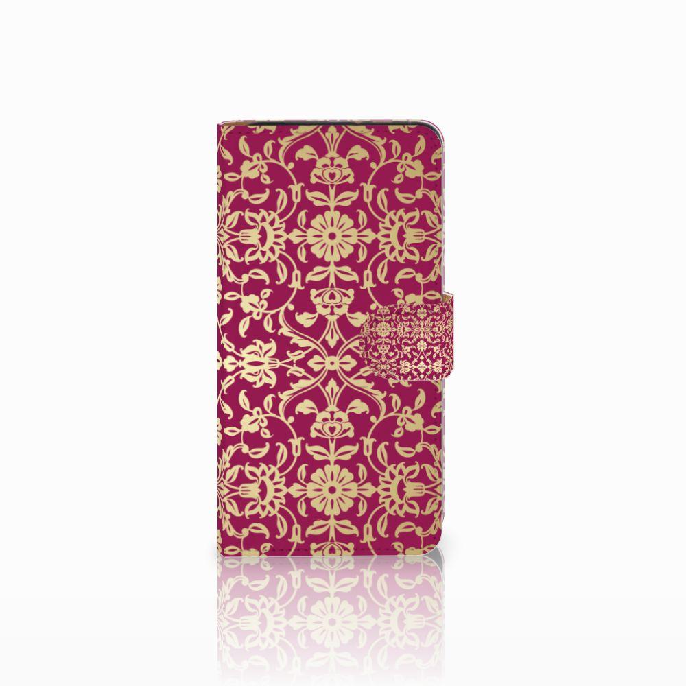 Wallet Case Wiko Lenny 3 Barok Pink