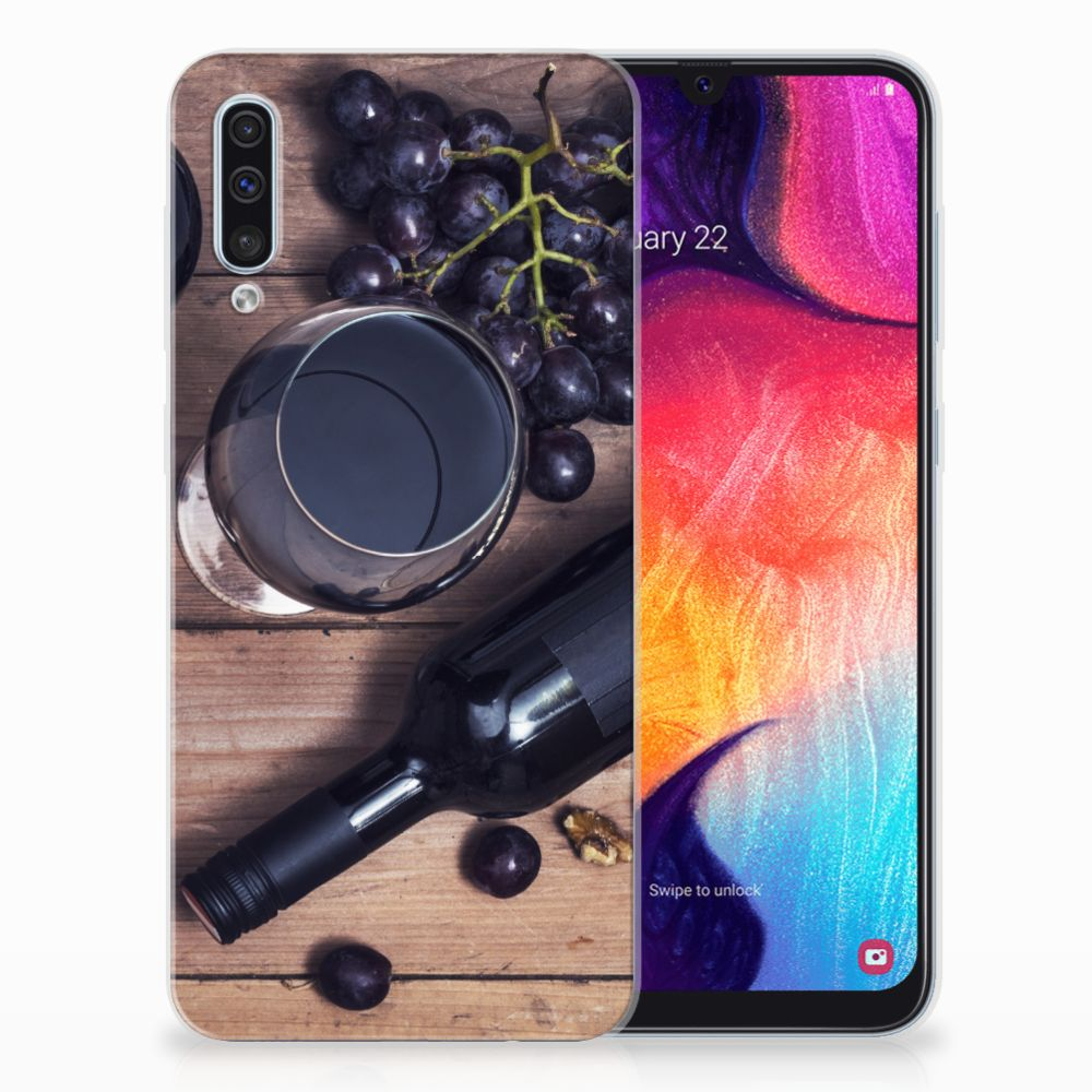 Samsung Galaxy A50 Siliconen Case Wijn