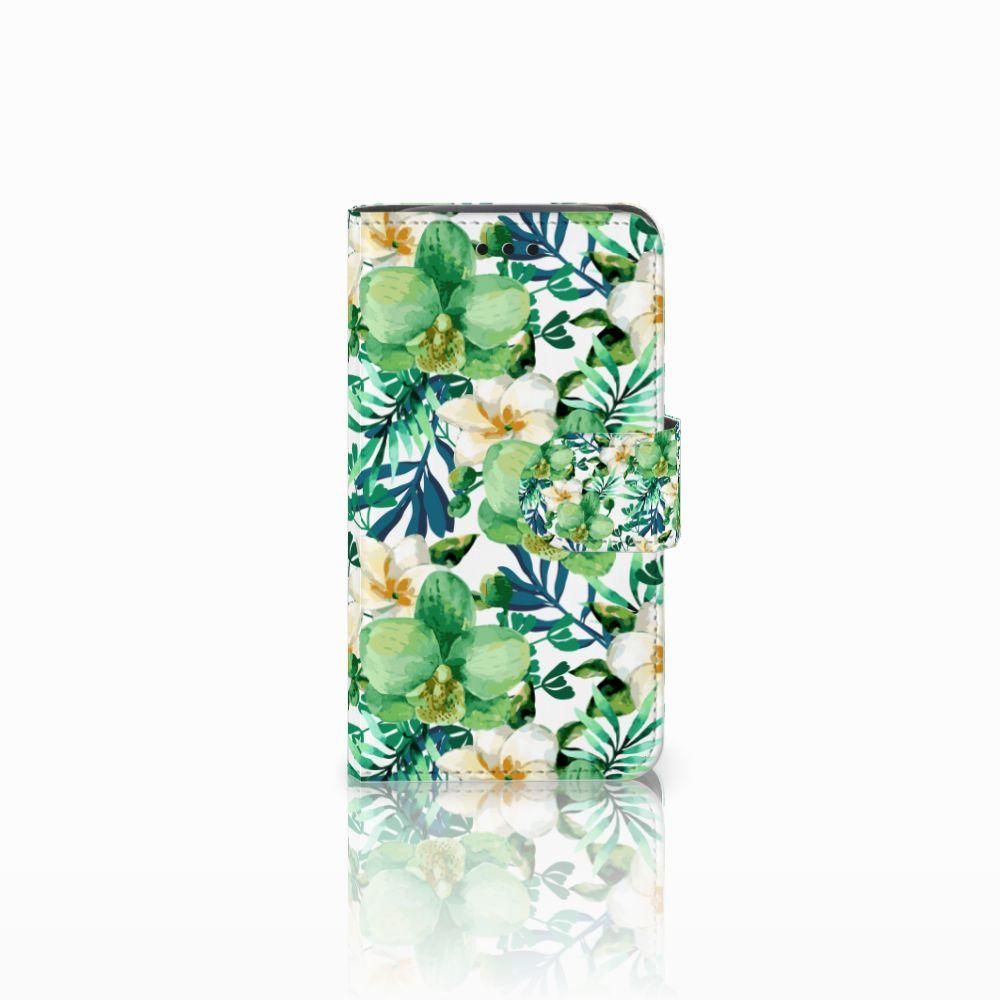 Samsung Galaxy Core i8260 Uniek Boekhoesje Orchidee Groen