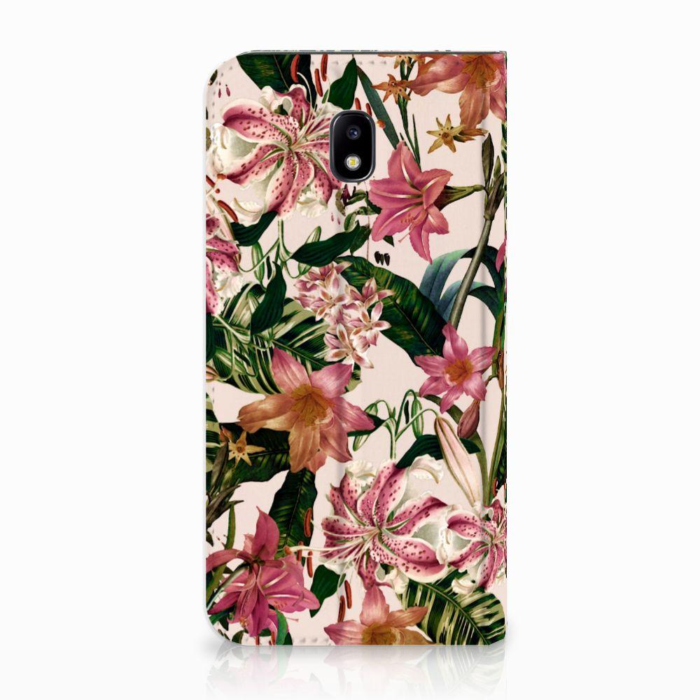 Samsung Galaxy J5 2017 Uniek Standcase Hoesje Flowers