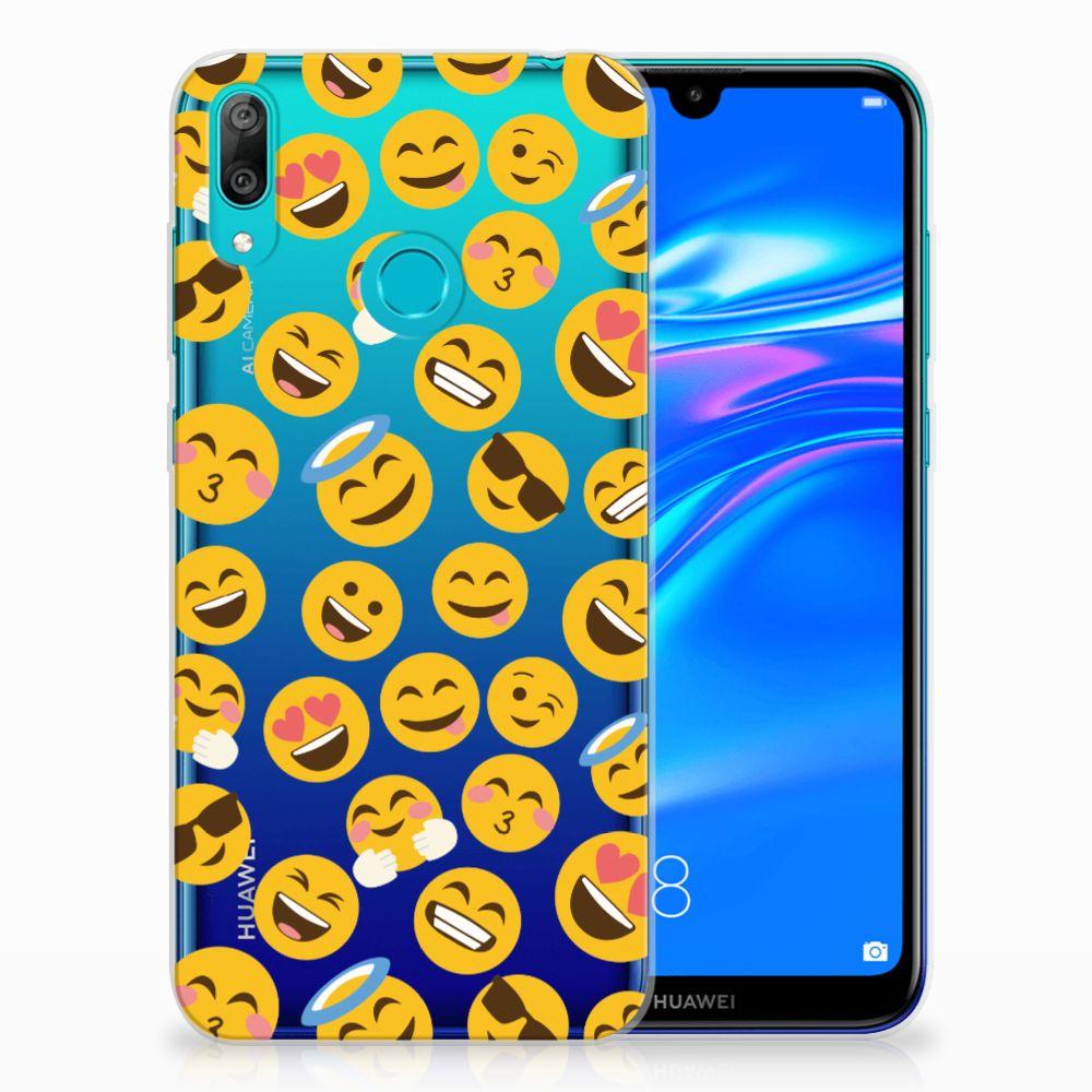 Huawei Y7 2019 TPU bumper Emoji
