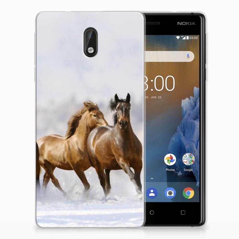 Nokia 3 Uniek TPU Hoesje Paarden