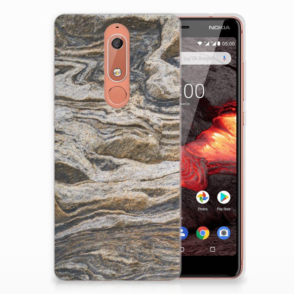 Nokia 5.1 (2018) TPU Siliconen Hoesje Steen