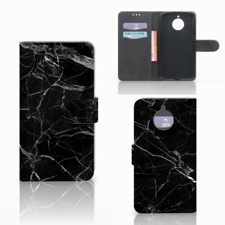 Motorola Moto E4 Plus Bookcase Marmer Zwart