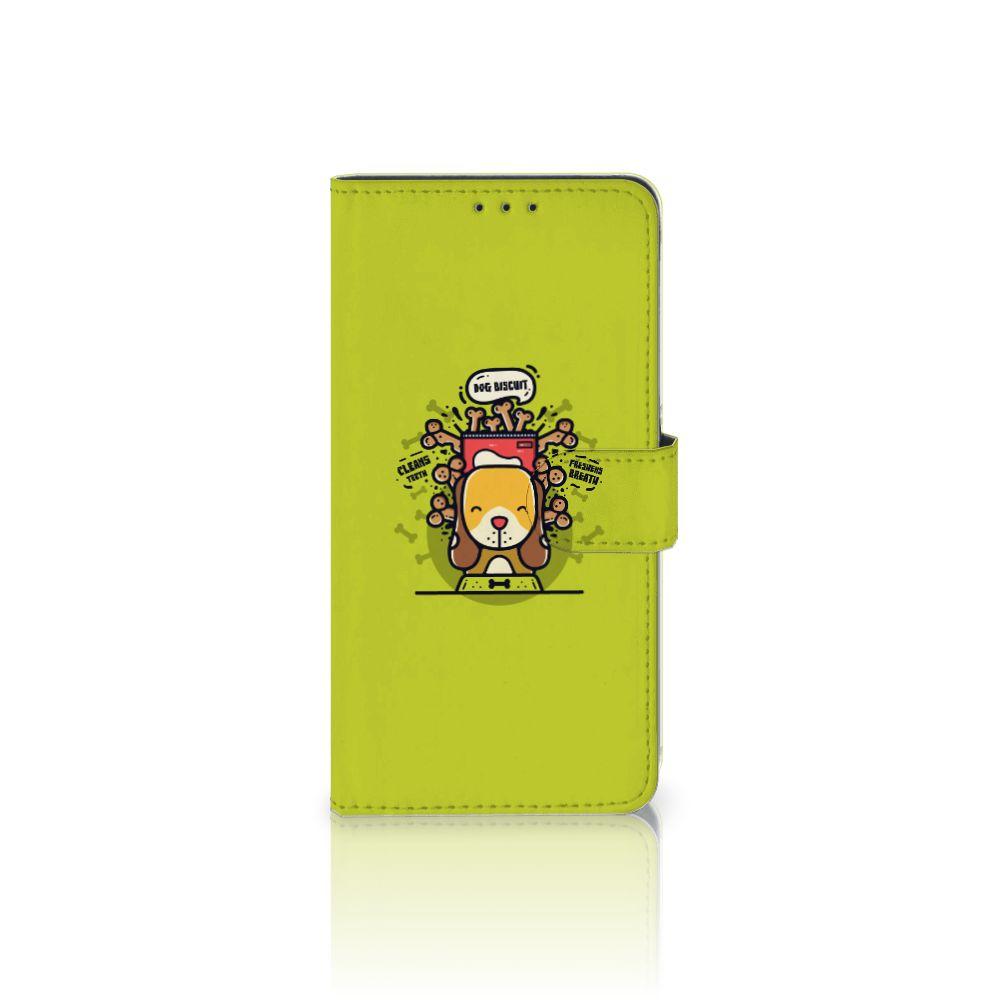 Samsung Galaxy A8 Plus (2018) Boekhoesje Design Doggy Biscuit