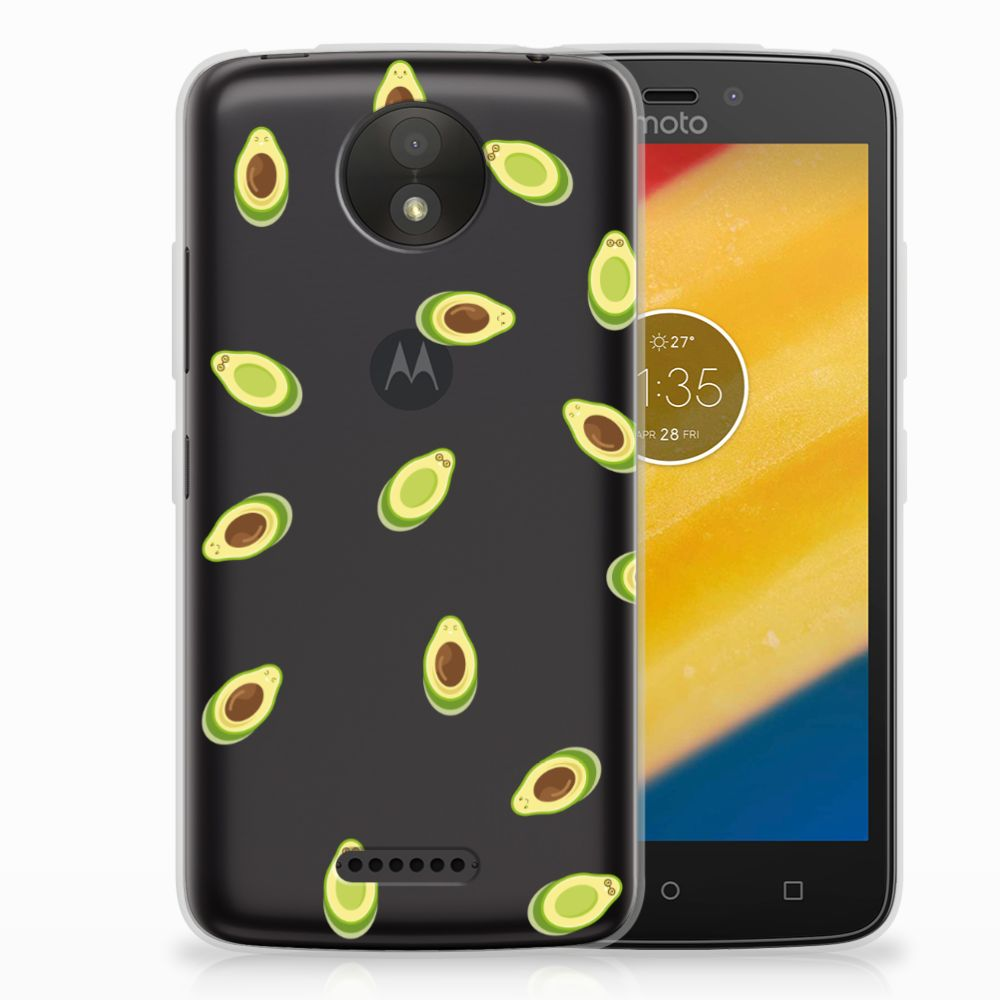 Motorola Moto C Plus Siliconen Case Avocado