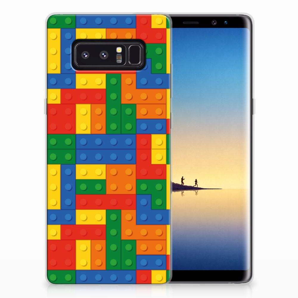 Samsung Galaxy Note 8 TPU Hoesje Design Blokken
