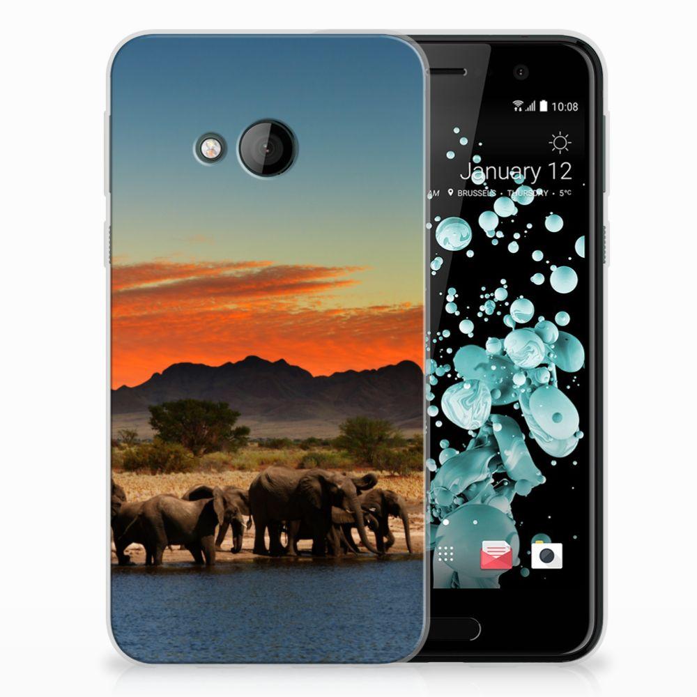 HTC U Play TPU Hoesje Design Olifanten