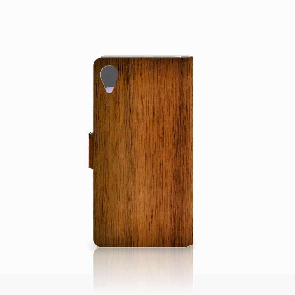 Sony Xperia X Performance Book Style Case Donker Hout
