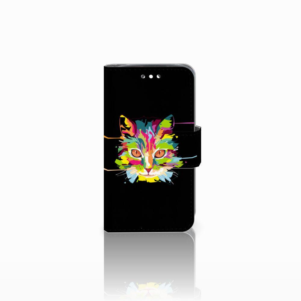 Huawei Y360 Uniek Boekhoesje Cat Color