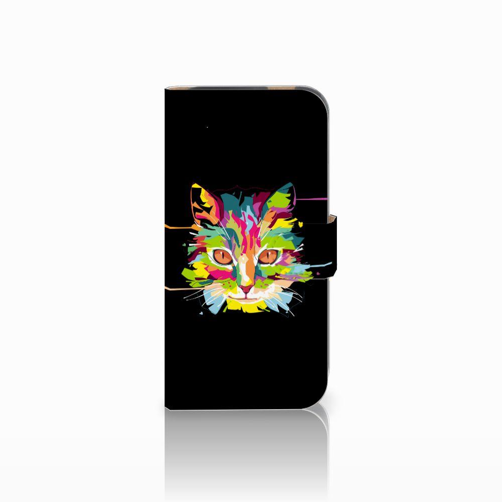 HTC One M8 Uniek Boekhoesje Cat Color