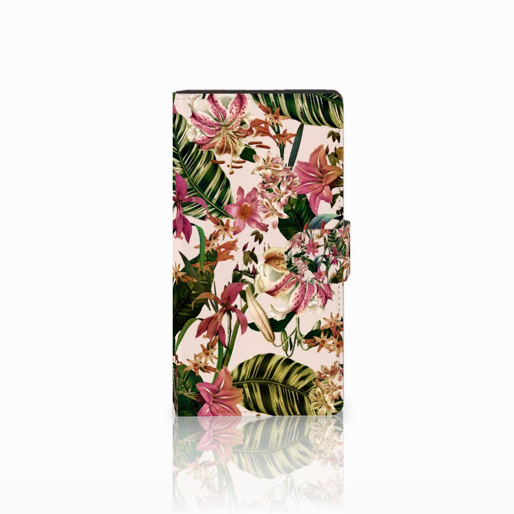 Sony Xperia C4 Uniek Boekhoesje Flowers
