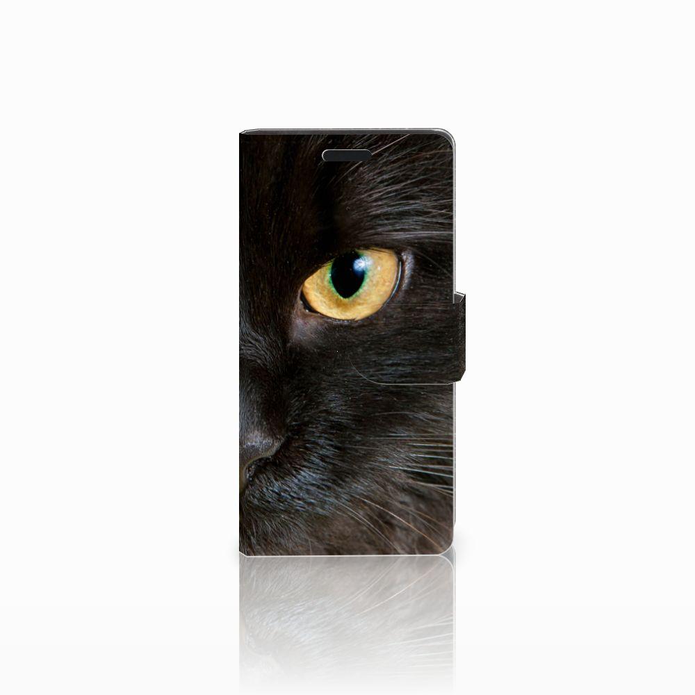 LG Leon 4G Uniek Boekhoesje Zwarte Kat