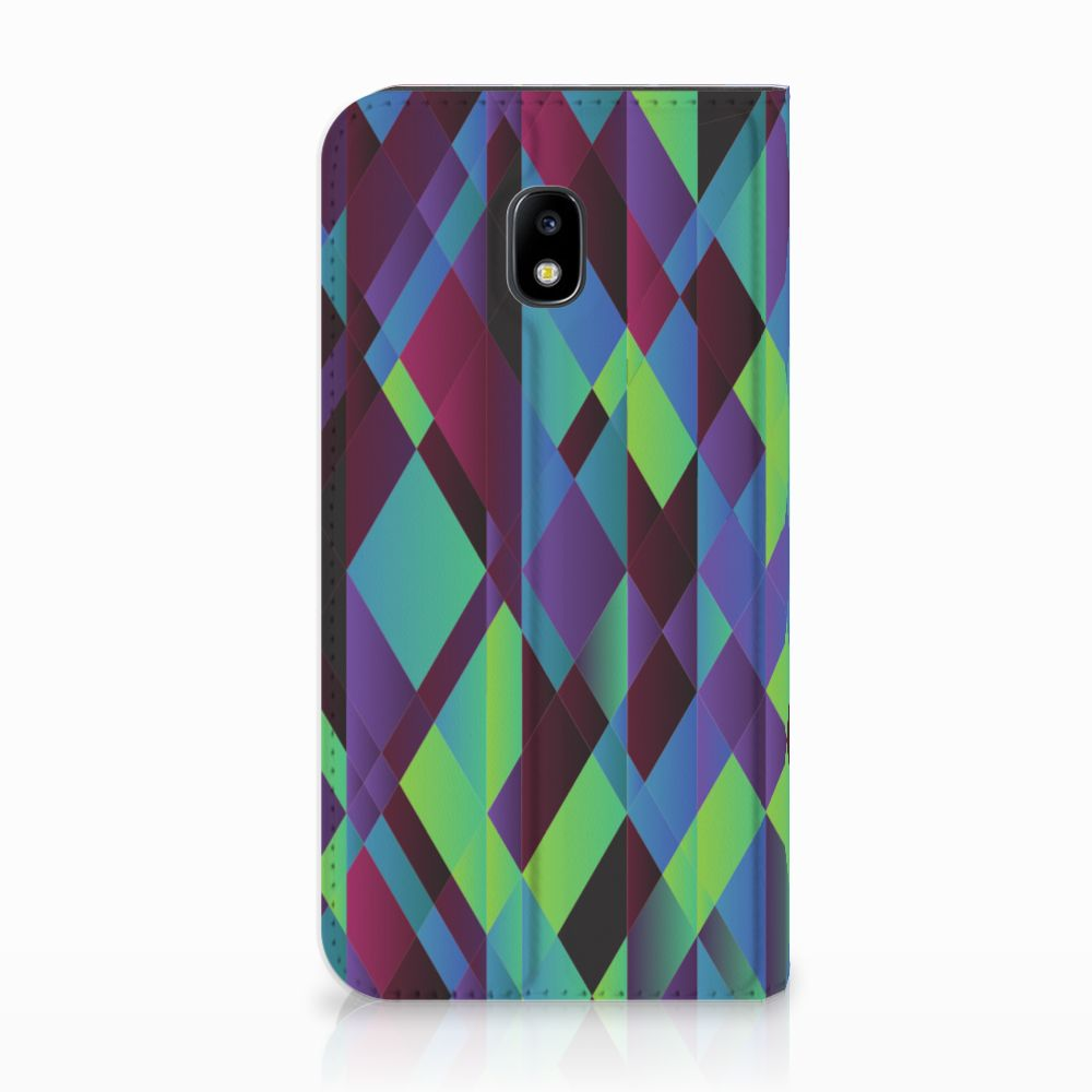 Samsung Galaxy J3 2017 Stand Case Abstract Green Blue