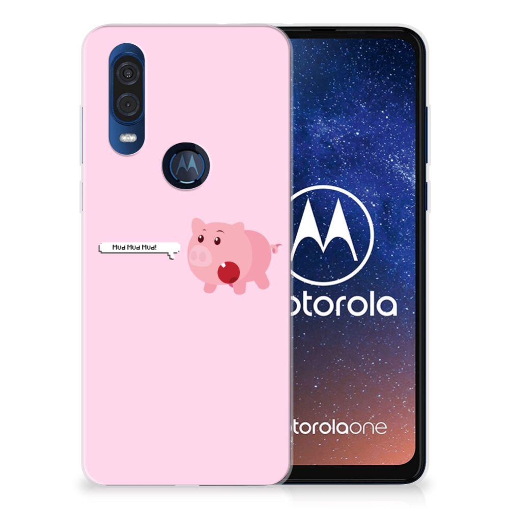 Motorola One Vision Telefoonhoesje met Naam Pig Mud