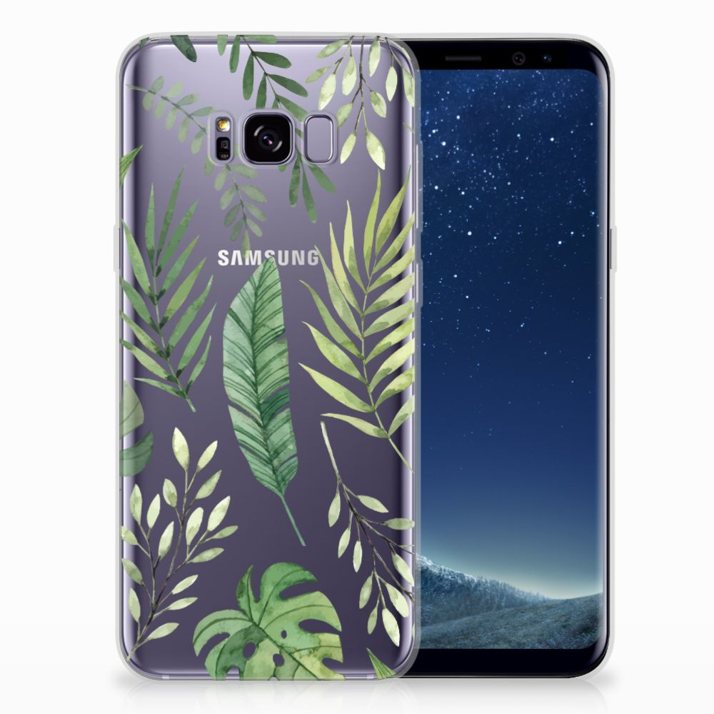 Samsung Galaxy S8 Plus Uniek TPU Hoesje Leaves