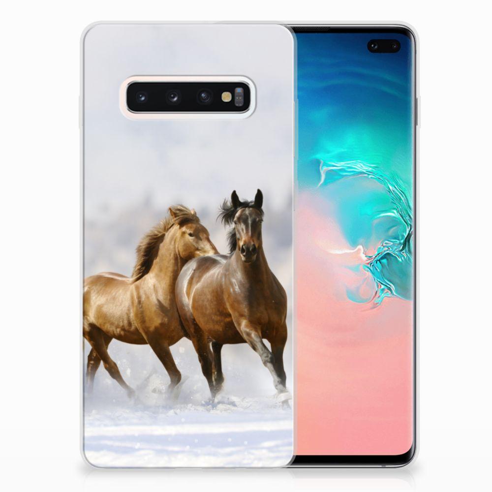 Samsung Galaxy S10 Plus TPU Hoesje Paarden